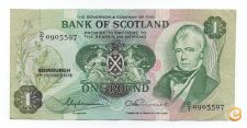ESCOCIA SCOTLAND 1 POUND 1978 PICK 111 C VER SCANS