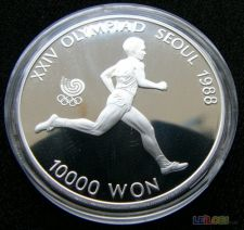 Coreia do Sul Korea 10000 won 1986 PROOF Prata 33.62 g
