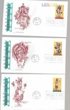 5 FDC AMERICAN INDIAN DANCES - 7 JUN 1996 CARIMBO 1º DIA