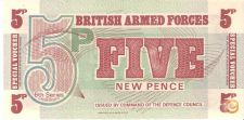 BRITISH FORCES -5 NEW PENCE -1972-6th SERIES-NÃO CIRCULADA