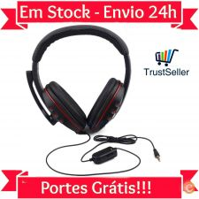 LU44 Auscultadores Headphones Gaming com Microfone PS4 PC