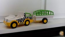 PLAYMOBIL - JEEP ZOO COM ATRELADO