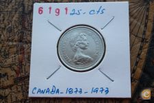 25-Centimes_CANADA_1873-1973                    A/R= [ 6191]