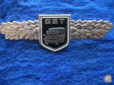GST motorists qualification badge ,DDR, 1980  cracha militar