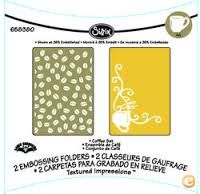 2 Embossing SIZZIX, A6 Large ««Conjunto CAFÉ»», 658380