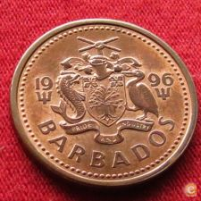 Barbados 1 cent 1996 KM# 10a   *V