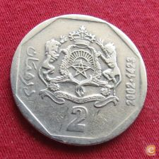 Marrocos 2 dirhams 2002 Y# 118