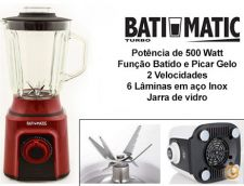 Liquidificador Batimatic Turbo 500W