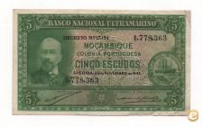 PORTUGAL MOÇAMBIQUE 5 ESCUDOS 1945 PICK 94 VER SCANS