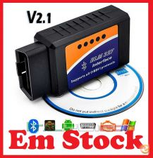 Cabo Diagnóstico Bluetooth ELM 327 v2.1 OBD2 /OBD Multimarca