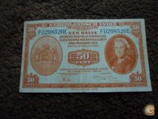 8520 INDIA HOLANDESA 50 CENT 1943 RARA