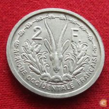 África Ocidental Francesa 2 francs 1948 w