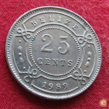 Belize 25 cents 1989 KM# 36   *V