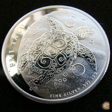 Fiji Fidji 2 dollars 2011 Tartaruga Proof Prata 999 1 oz