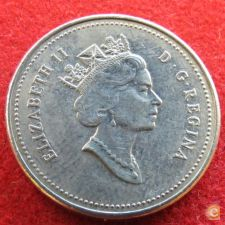 Canada 5 cents 1990