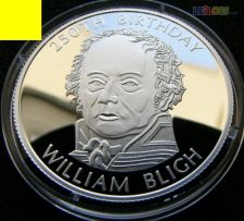 Somália 250 shillings 2004 William Bligh Proof Prata