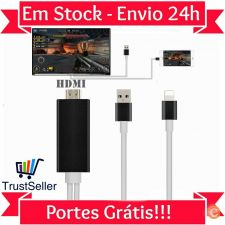 T35 CABO HDMI DE IPHONE 5 5S 5C 6 6S Ipad 4 Air Mini para TV