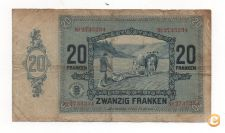 LUXEMBURGO LUXEMBOURG 20 FRANCS 1929 PICK 37 VER SCANS