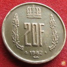 Luxemburgo 20 francs 1982 KM# 58 Luxembourg