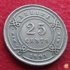 Belize 25 cents 1993 KM# 36   *V