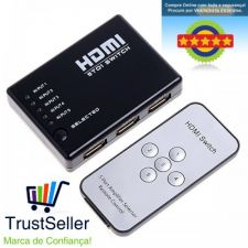 L317 Switch Splitter Tripla 5 portas HDMI Full HD 1080P 24h!