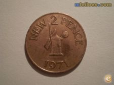 Guernsey 2 new pence 1971