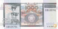 NOTA DO BURUNDI 1000 FRANCS DE 2009, NOVA