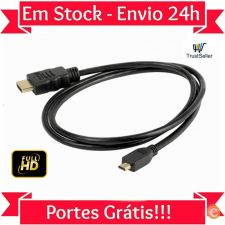U07 Cabo Extensão Micro HDMI HDMI Ethernet 3D TV PC PS3 DVD