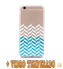 Capa Gel Trendy Strips + VIDRO Para iPhone 7 e iPhone 8
