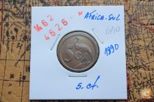 5-CENTIMES _AFRICA DO SUL_1990                 A/R= [ 4626]