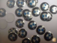 4x Logo Emblema Autocolante Sticker BMW 14mm Stock