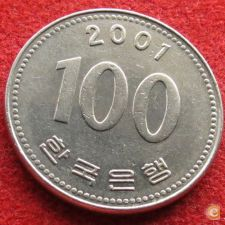 Coreia do Sul Korea 100 won 2001 KM# 35.2
