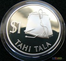 Tokelau 1 dollar 1979 PROOF Prata