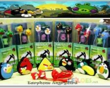 Ear Phones Auriculares Angry Birds Novos Caixa Stock Natal