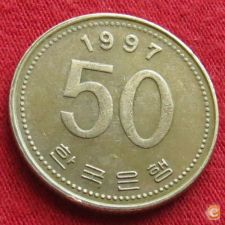 Coreia do Sul Korea 50 won 1997 KM# 34 fao   *V