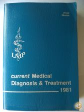 Current Medical Diagnosis & Treatment 1981