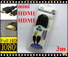 Extensão Cabo adaptador HDMI mini HDMI 3m TV, PC, PS3, DVD