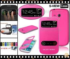 Flip case S-VIEW rosa Samsung Galaxy S3 SIII Mini GT-i8190