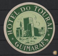ANTIGO ROTULO LABEL HOTEL DO TOURAL GUIMARAES