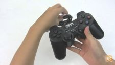 Comando Gamer P/ PC Dualshock Double Shock C/ Vibração USB