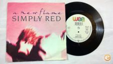 """SIMPLY RED A New Flame  7""""Single"""
