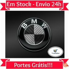 L6114 Simbolo Emblema BMW Carbono 74mm M Power Stock