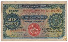 PORTUGAL MOÇAMBIQUE 20 CENTAVOS 1914 PICK 57 VER SCANS