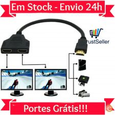 L322 Cabo HDMI Switch / Splitter Ligue 2 TV a PC/DVD Stock