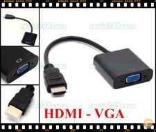 Cabo adaptador Box conversor HDMI p/ VGA HD DVD LCD PC Video