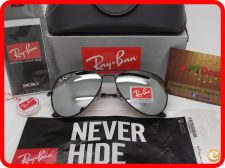 STOCK - Oculos Ray Ban Aviator RB 3025 - Pretos Espelhados