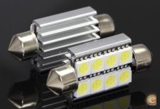 2x lampadas Tubular 39mm 8 led 5050 Canbus Stock