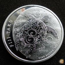 Fiji Fidji 2 dollars 2013 Tartaruga Proof Prata 999 1 oz