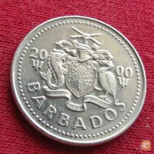 Barbados 25 cents 2000 KM# 13