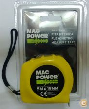 Fita Métrica MacPower 5 mt Larg. Fita 19 mm